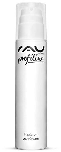 Gesichtscreme mit Anti-Aging Effekt - RAU Hyaluron 24h Cream 200 ml PROFILINE - für trockene Haut mit Hyaluronsäure, Sheabutter & Avocadoöl