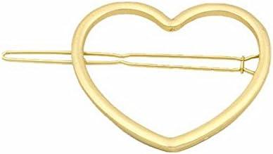 Aaishwarya Golden Toned Heart Hair Pin/Hair Clip for Women/Girls
