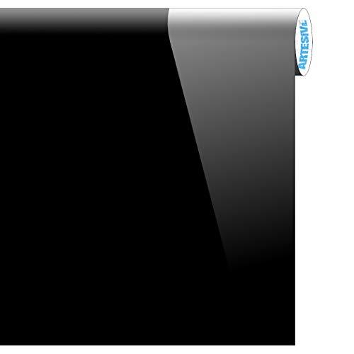 Artesive la-002 nero lucido larg. 30 cm x 5mt. pellicola adesiva tinta unita