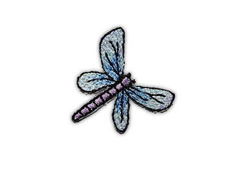 alles-meine.de GmbH Libelle klein 2,7 cm * 2,7 cm Aufnäher Applikation Bügelbild Insekt