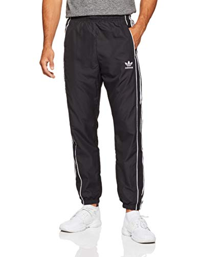 adidas Herren Authentic Wind Track Hose, Black/White, XL -