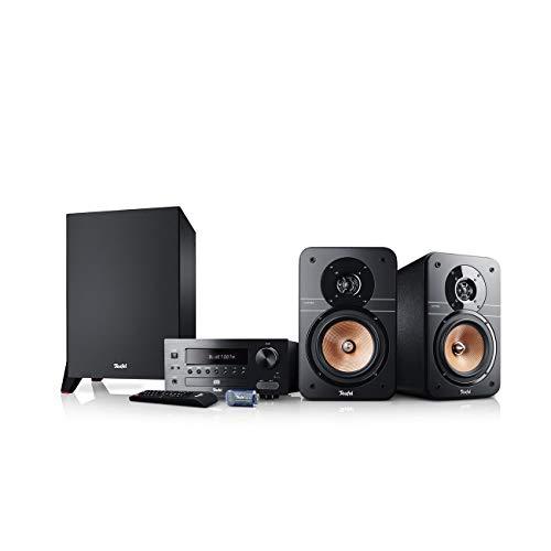 Teufel Ultima 20 Kombo Power Edition Schwarz Stereo Lautsprecher Musik Sound Hochtöner Mitteltöner Bass Speaker High End HiFi Tieftöner