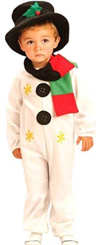 erdbeerloft - Unisex - Kinder Schneemann Kostüm, 116, (Schneemann Amazon Kostüm)