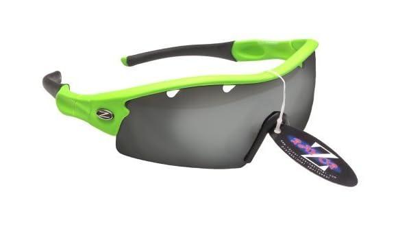 Rayzor Professionelle Leichte UV400 Schwarz Sports Wrap Laufen Sonnenbrille, Mit einer 1 Stück Entlüfteter Smoke Widergespiegeltes Objektiv.
