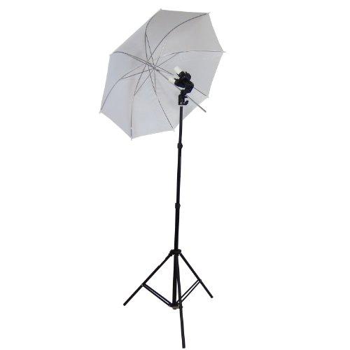 DynaSun Douille Studioleuchte mit Schirm und Dreifuß für Blitzgeräte