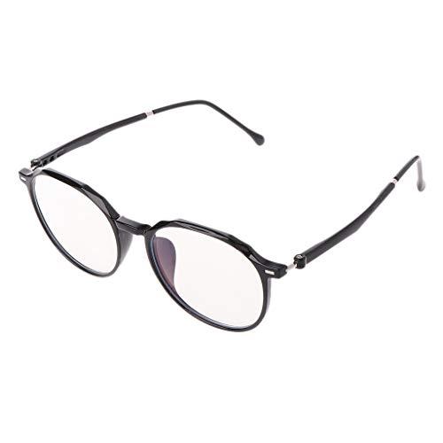 VIccoo Men Women Computer Glasses Anti Blue Rays Radiation Eyeglass Optical Frame Clear Lens Unisex - Schwarz