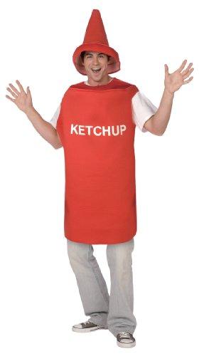 Ketchup-Tube - Kostüm für Erwachsene Einheitsgröße