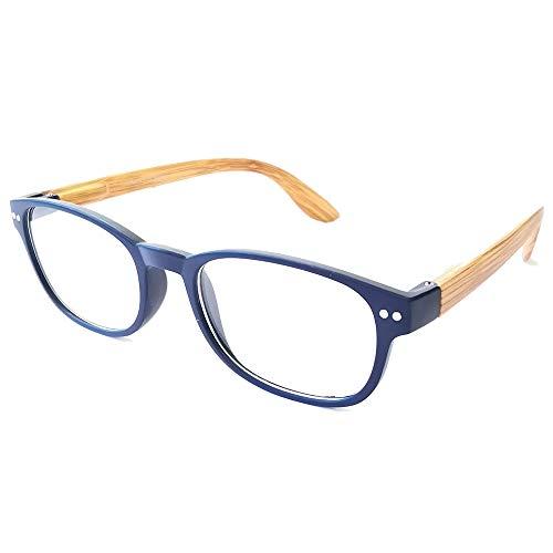Damen Lesebrille Herren Lesebrillen moderne Form und Farben leicht Federbügel Anti Rutsch Oberfläche (1.5, blau)