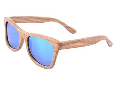 SHINU Holz-Sonnenbrille-Frauen-Weinlese-Holzplatz Brille Polarized Objektiv SH6001