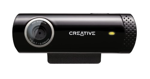 Creative Live!Cam Chat HD - Webcam HD(micrófono incorporado), negro