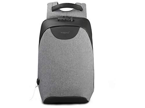 DDOQ Sinnvoll Reisetaschen, Diebstahlsicherer Leichter Wanderrucksack Atmungsaktive Fahrradtaschen Große Kleine Rucksäcke (Grau + Schwarz)