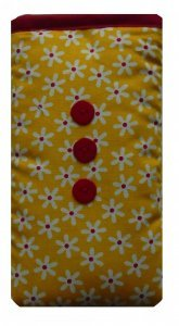 Cute Yellow Daisy Print Apple iPhone SE sock / Case / Cover / Pouch