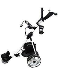 Zerimar Kenrod Golf Cart Elektrisch | Golfwagen Trolley Klappbar | Golftrolley 3 Rad | Golftrolley Elektro (weiß)
