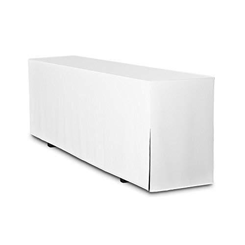 4er Pack Biertischhussen Premium (nur Tisch 220cm) (Weiss, Breite: 50cm)
