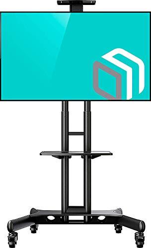 ONKRON Supporto TV da pavimento per televisori da 32' - 65 pollici LCD LED Plasma STAFFA TV CON ROTELLE CARRELLO TV FINO 45.5 kg MOBILE PORTA TV CON VESA max 600 x 400 mm TS1551