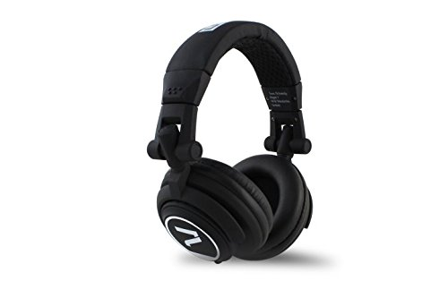 7even Headphone black / Dj, Hifi, Sport Kopfhörer schwarz , dreh-klappbar, tauschbares Kabel, 110db, black