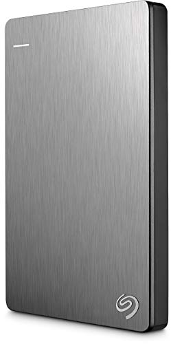 Seagate 1TB Backup Plus Slim (Silver) USB 3.0 External Hard Drive for PC/Mac with 2 Months Free Adobe Photography Plan
