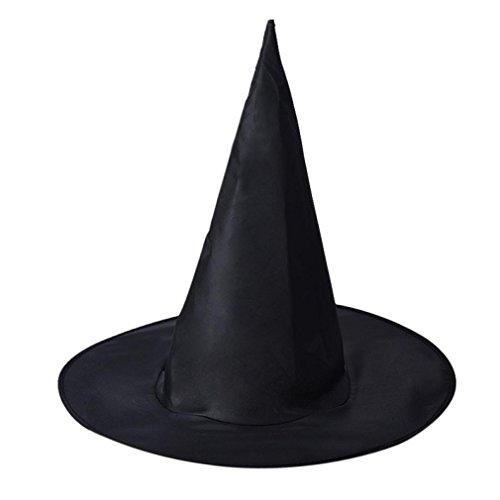 Halloween Schwarz Hexe Hut_Hirolan (Schwarz, 36CM) (Diy Pest Doktor Kostüm)