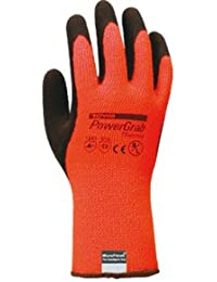 Juba - Guante poliester algodón latex negro forro talla 9 naranja