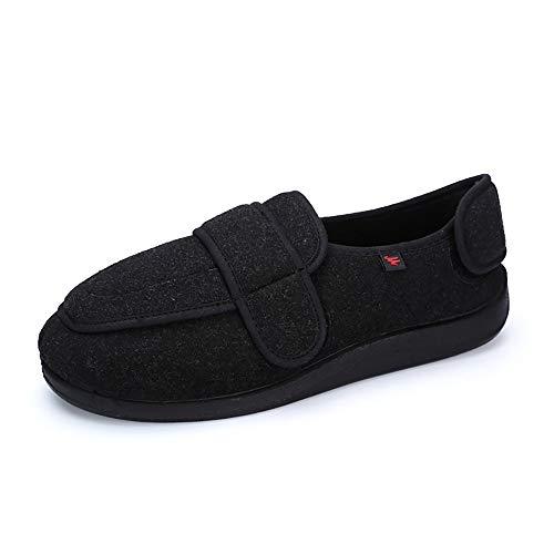 Zapatos diabéticos para Hombre, Extra Anchas Zapatillas Antideslizantes Artritis y Edema para Ancianos con Cierre de Velcro Ajustable para Interior y Exterior, para Interior y Exterior (47 EU)