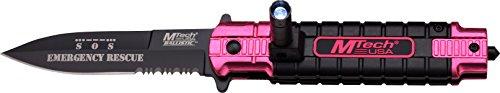 MTech USA Taschenmesser,  schwarz/pink, MT-A859PK