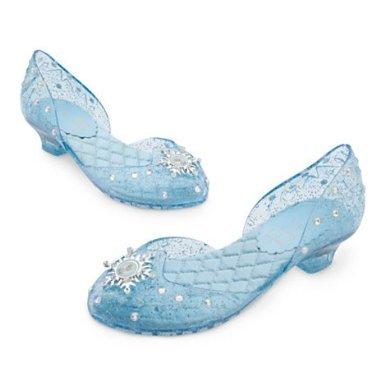 gin - völlig unverfroren - Elsa Schuhe für Kinder - UK Größe, 13 , EU Größe 32 - 33 (Anna Baby-kostüm Frozen)