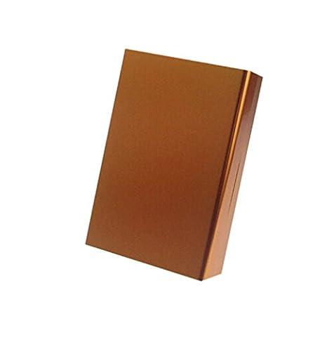 HENGSONG Aluminium Glissière Couverture Etui à Cigarettes Holder Storage Pocket Cigar Cigarette Case (Or)