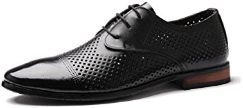 NBWE Los Zapatos de Cuero Respirables de los Hombres de Las Sandalias Respirables Señalaron los Zapatos Ocasionales... -