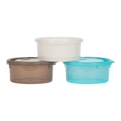 Lagerung Behälter Türkis (Bo Jungle b-bowls Speicher für Baby und Kind Lebensmitteln oder Snacks, 730ml, 3Stück)