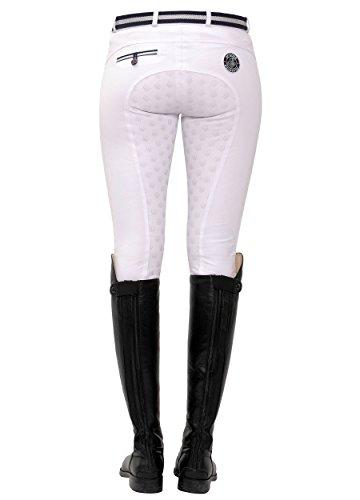 SPOOKS Reithose für Damen Mädchen Kinder, Voll-Grip-Besatz Reithosen Leggings Turnierreithose - bequem & stylisch Lucy Full Grip - White L