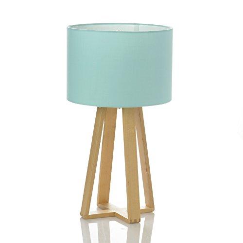 lampada-da-tavolo-con-base-in-legno-paralume-di-color-azzurro