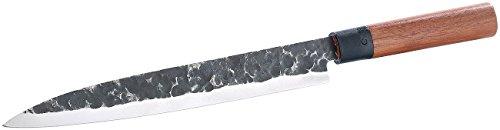 TokioKitchenWare Filetiermesser: Filiermesser mit Echtholzgriff, handgefertigt (Filitiermesser) Sushi Messer