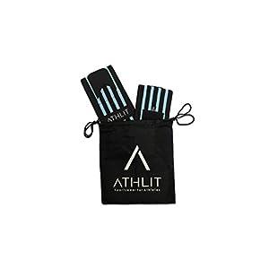 ATHLIT Handgelenk Bandagen (45cm) 2er Set + Gratis Tasche – Sport Handgelenkbandage [Wrist Wraps] für Crossfit, Kraftsport, Bodybuilding & Fitness – 2 Jahre Gewährleistung