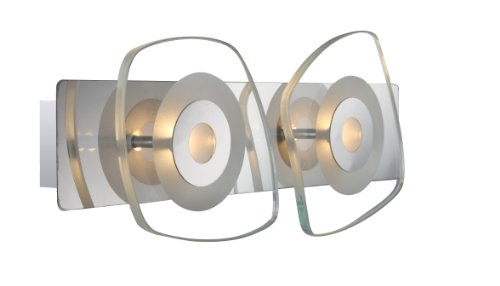 LED Wandleuchte Chrom 9 Watt Lampe Globo 41710-2