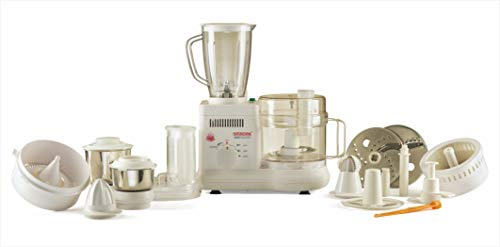 Signoraware Supreme Maxie Plus 10001 700-Watt Food Processor with 3 Jars (White)