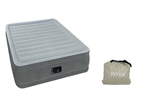 Intex 64414 Luftbett Comfort Plush Elevated Airbed Kit 'Queen', 230 V inklusive eingebauter Luftpumpe, 152 x 203 x 46 cm