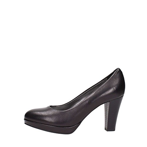 Igi&Co 6842 Nero Scarpa Donna Pelle Decolletè Tacco CON Plateau Made In Italy
