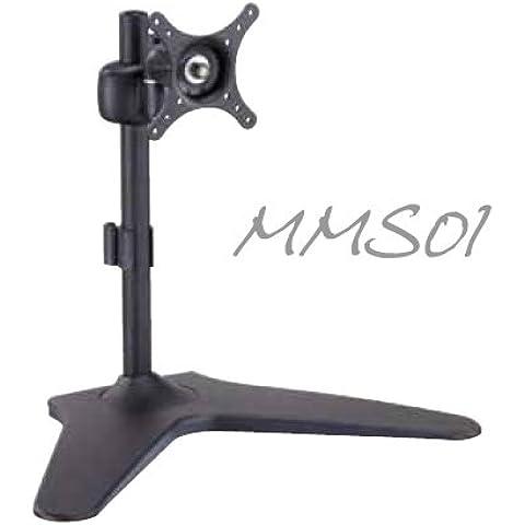 MMS01 único LED / LCD Monitor Stand Desk Soporte de montaje giratorio de inclinación