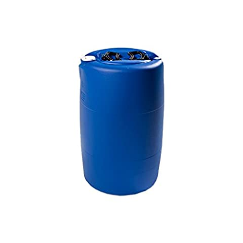 60 Litre Ltr L Plastic Blue Drum Tighthead Barrel With Bung for Storage Liquid Oil Paint Industrial Laboratory Garden Outdoor