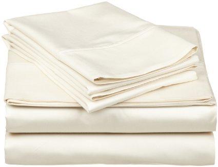 Dreamz Bedding- Fadenzahl 300, 45.72 cm tiefe Tasche befestigt Nahlinsen-Set Wasserbett Bettwäsche Euro König IKEA Elfenbein/Creme, solide 100% ägyptischer Baumwolle (König Bettwäsche-sets Elfenbein)