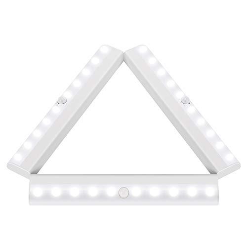 LiveComfort 3er-Pack Bewegungsmelder-Licht, kabellos, Schrank-Sensor-Licht mit 10 LED-Birnen, aufklebbar und batteriebetrieben 1.00W, 6.00V - Motion-sensing-licht Leuchte