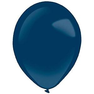 amscan 9905402 - Globos de látex (50 Unidades), Color Azul