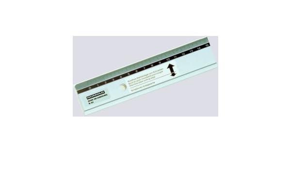 50cm Rumold Schneidelineal Aluminium mit Stahlkante