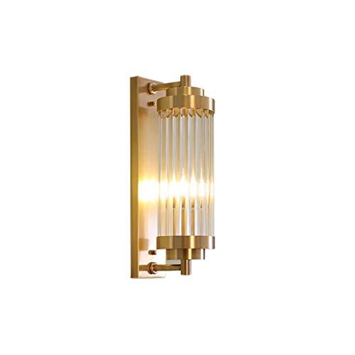 Antike Messing Wandlampen Wandbeleuchtung Glas Wandleuchte Rustikale Industrielle Unterputz Wandleuchte Glas Lampenschirm Fleck Messing Wandleuchte Wandleuchte Leuchte, E14 A+ - Antik Messing-kristall-wandleuchte
