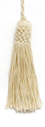 DecoPro Set von 10Cream Crown Head Chainette Quaste, 10cm Lang mit 2,5cm Loop, Basic Rand Collection Stil # CT04Farbe: Cremefarben/Elfenbeinfarben-A2 -