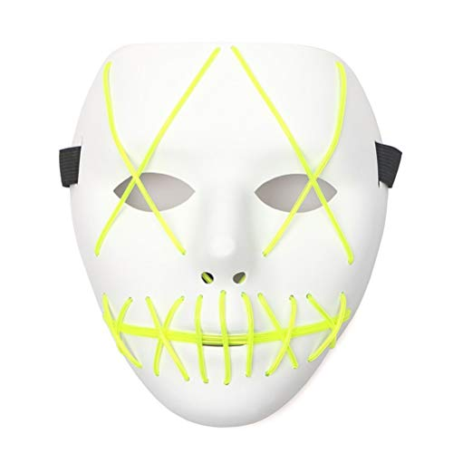 Baby Kostüm Beats - biteri Purge Mask LED Maske Kostüm Cosplay für Halloween Kostüm Rave Festivals Cosplay LED Luminous Maske Purge DJ Mask