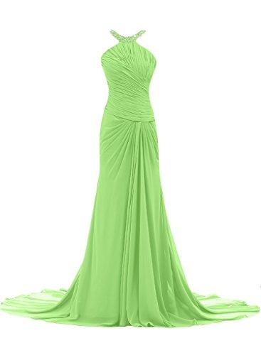 ivyd ressing Femme Ligne étui élégante traîne mousseline Prom robe robe de bal robe du soir sauge