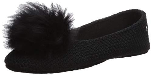 UGG Andi Größe 41 EU Schwarz (Black) (Ugg Frauen Boots Gestrickte)
