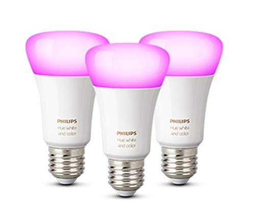 Philips Lighting Hue White and Color Ambiance Lampadine LED Intelligenti, Attacco E27, 9 W, 3 Pezzi