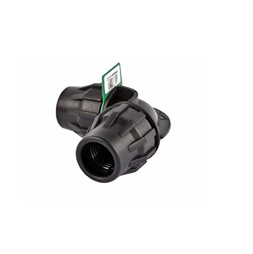 SYR Brico Fitting – Coude 90 °, 12 x 6 x 4 cm, Couleur Noir